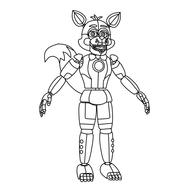 It is an image of Remarkable fnaf foxy coloring pages