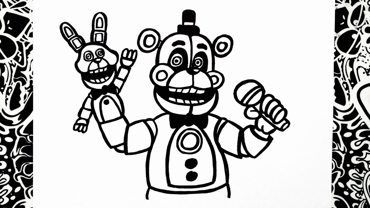 Funtime Foxy Drawing At Getdrawings Com Free For Personal Use
