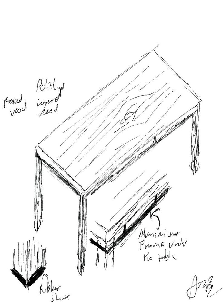 Furniture Design Drawing