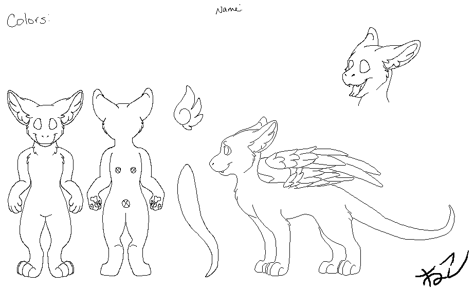 Fursuit Base Drawing