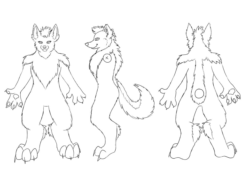 Fursuit Base Drawing at GetDrawings.com | Free for personal use ...