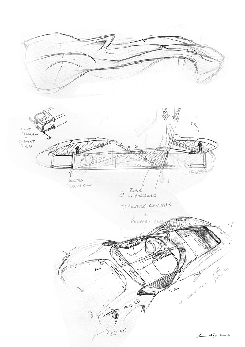 Future Car Drawing