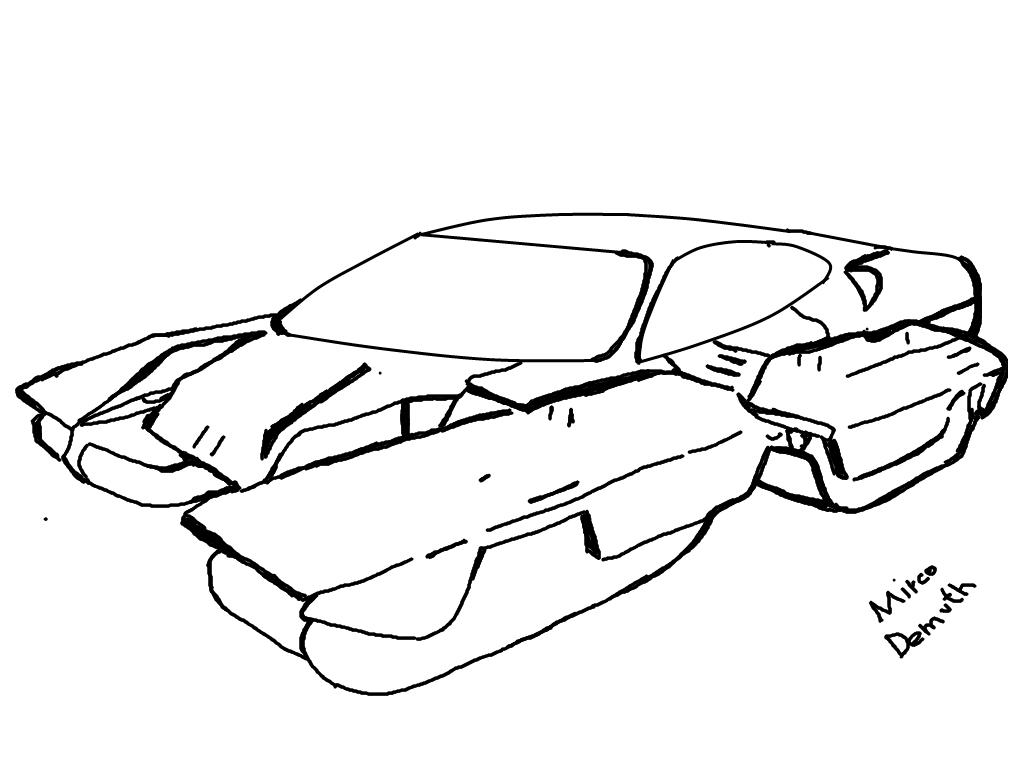 1024x768 Future Car By C0art