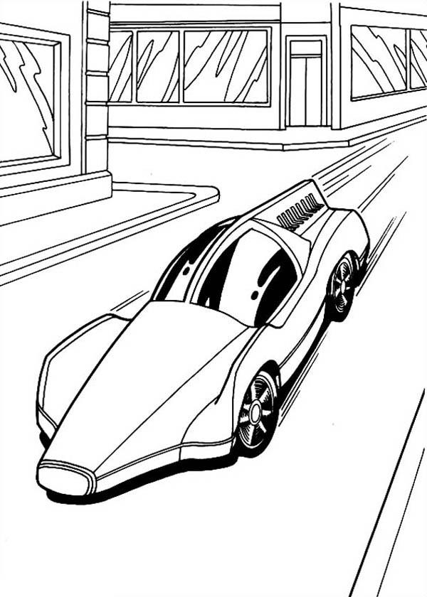 600x840 Hot Wheels Solar Car Coloring Page