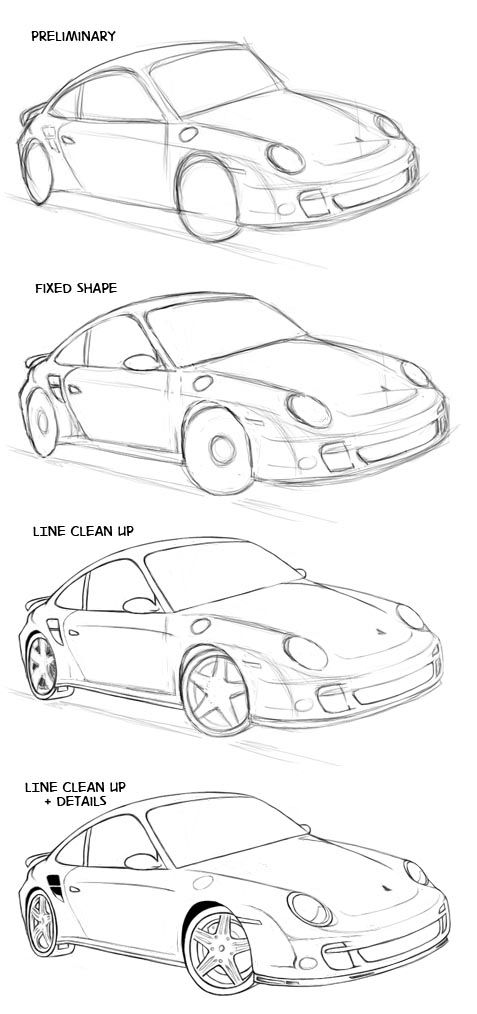 how to draw a future car
