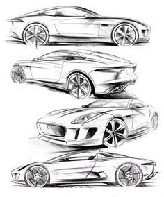 Futuristic Cars Drawing