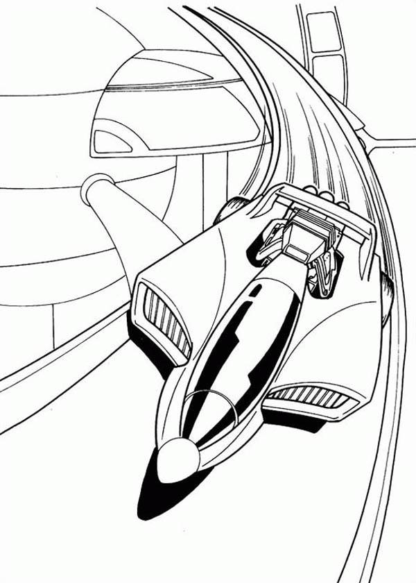 600x840 Hot Wheels Futuristic Car Coloring Page