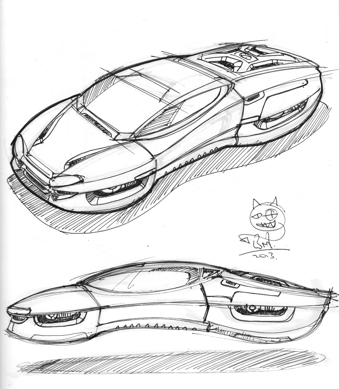 1185x1360 Hover Car Weekend Doodle 19102013 Sci Fi Vehicles