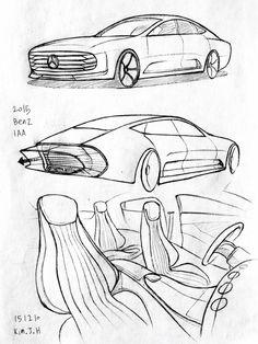 236x314 Car Drawing 151227. 2015 Volkswagen Sirocco. Prisma On Paper. Kim