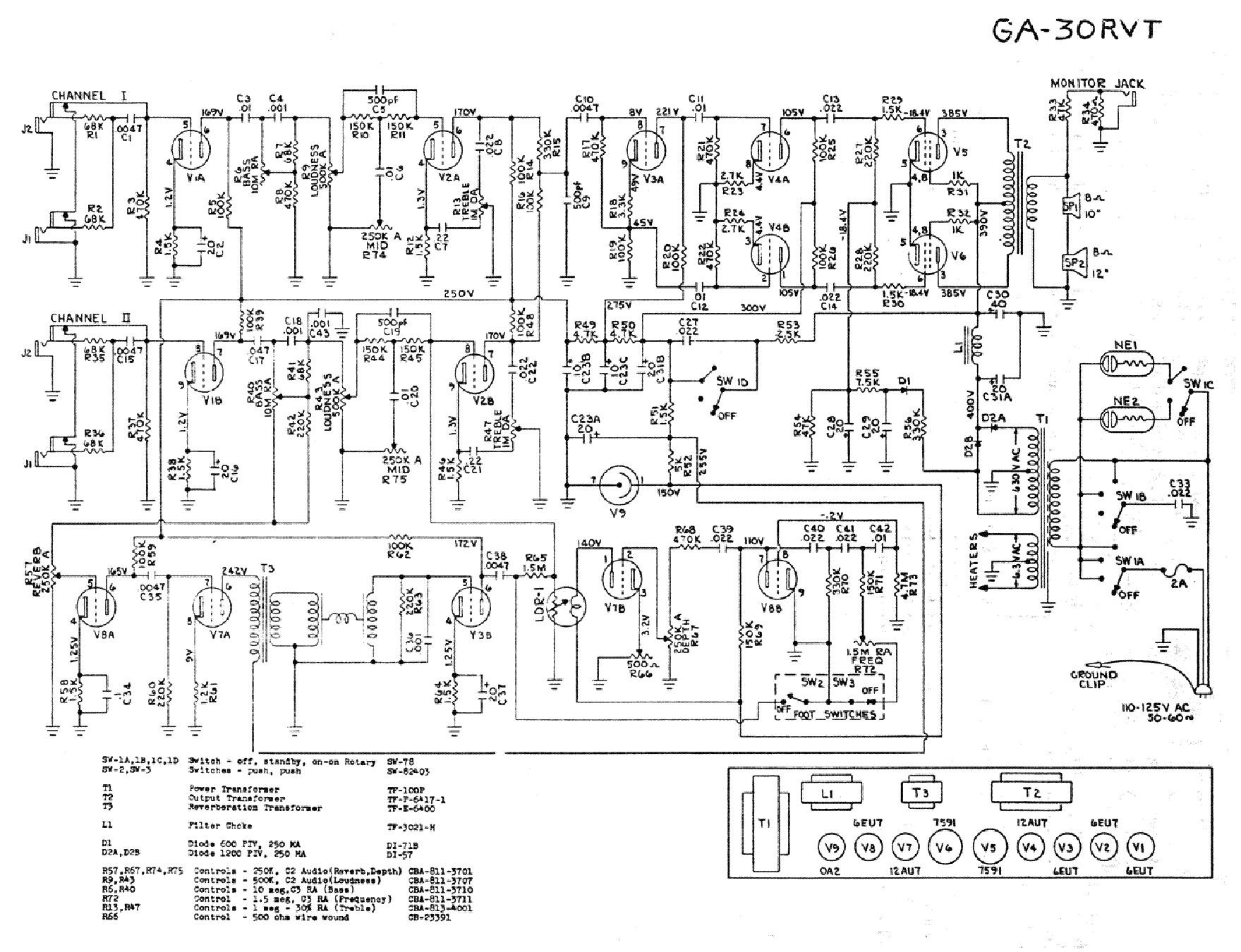Ga Drawing At Free For Personal Use Of Manual Download Schematics Eeprom Repair Info Electronics 1759x1350 Gibson 30rvt Service
