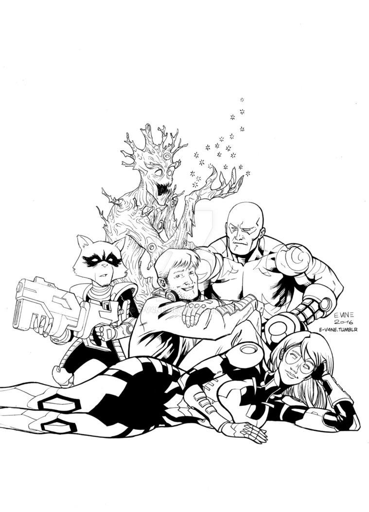 759x1052 Guardians Of The Galaxy X Breakfast Club By E V4ne