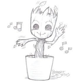 279x279 Baby Groot Beautiful Image Drawing Groot Baby