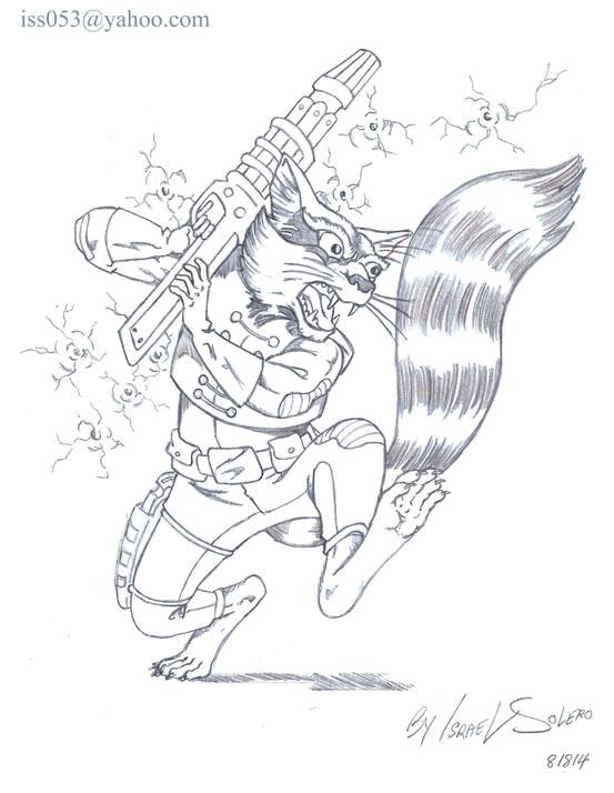 553x714 Guardians Of The Galaxy Rocket Raccoon (Prelim), In Israel
