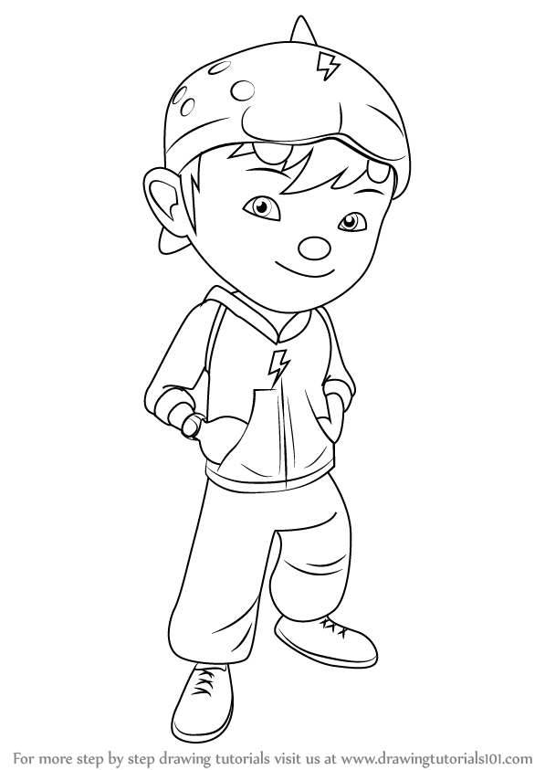 597x843 Learn How To Draw Boboiboy (Boboiboy) Step By Step Drawing Tutorials