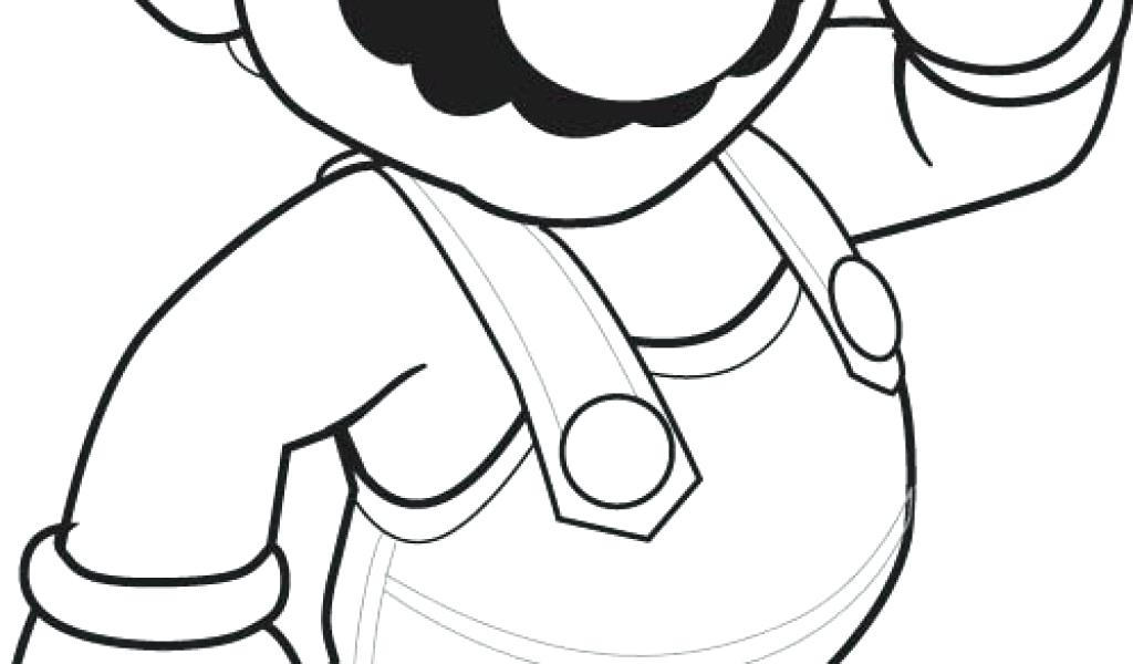 1024x600 Super Brothers Reach The Stars Coloring Page Color Star Mario