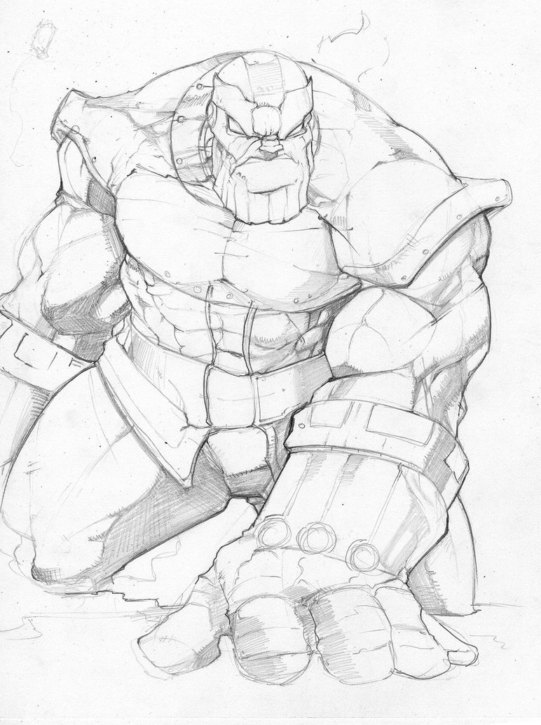 772x1034 Thanos Pencil Sketch By Donnygreen
