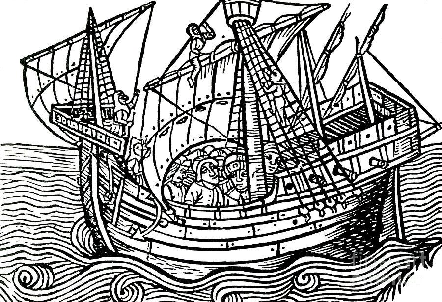 Galleon Ship Drawing