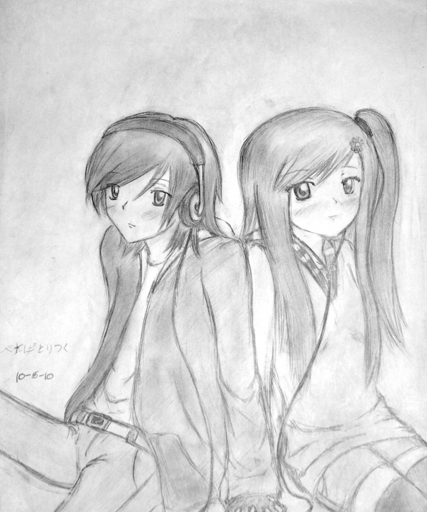 854x1024 Gallery Drawing Couple Hd Pic,