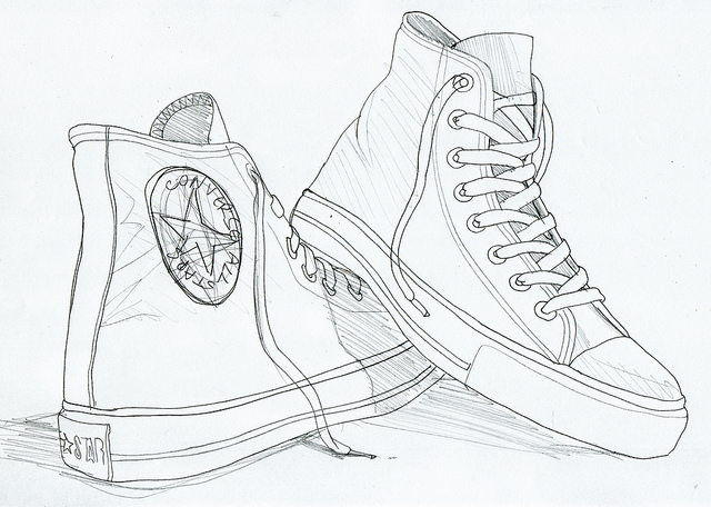 640x456 Gallery For Gt High Top Converse Drawing Art High