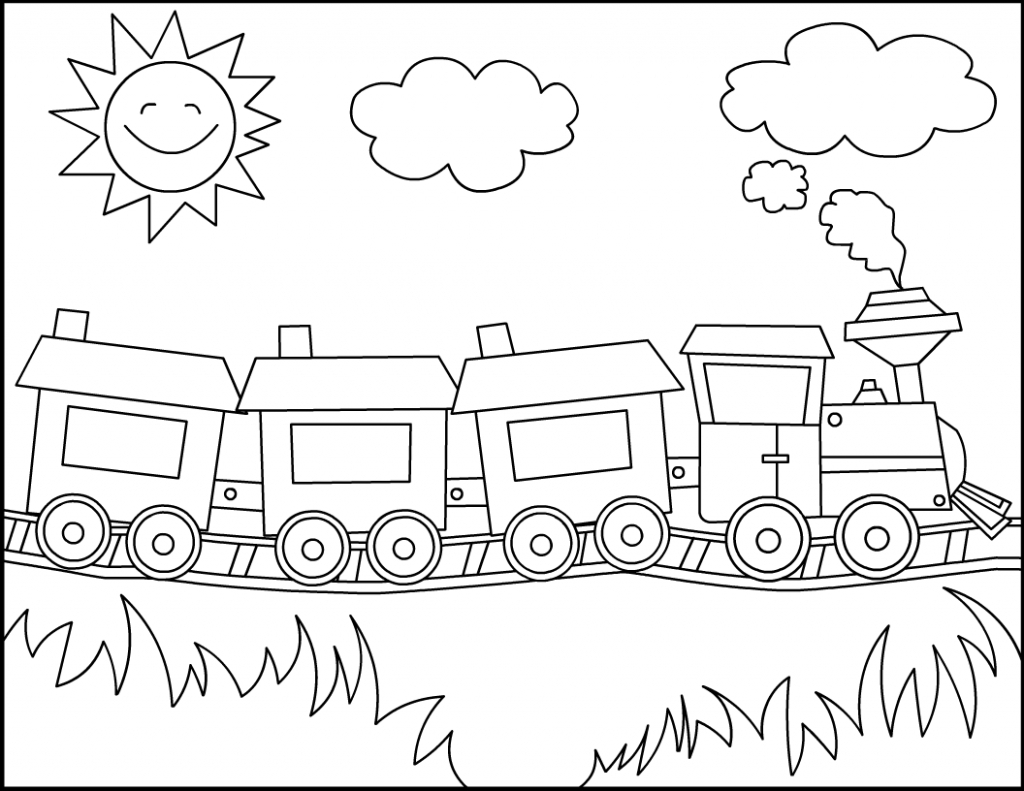 1024x791 Simple Drawing Of Train Simple Train Drawing