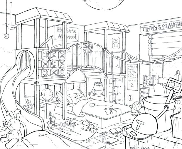 620x509 Easy To Draw Bedroom Betweenthepages.club