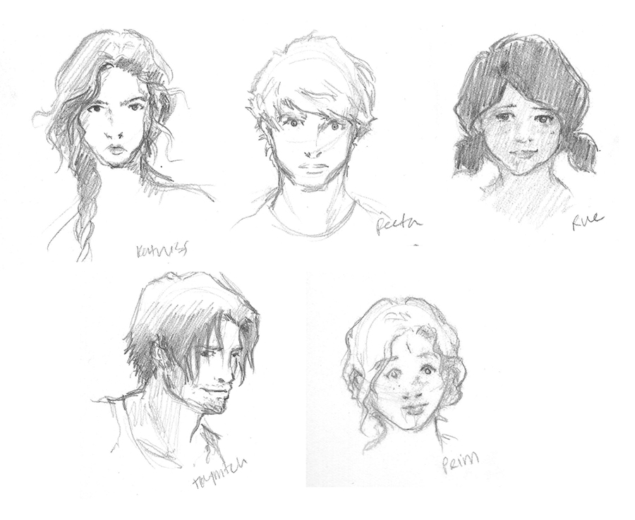 900x737 Hunger Games Character Sketches By Kaseyu