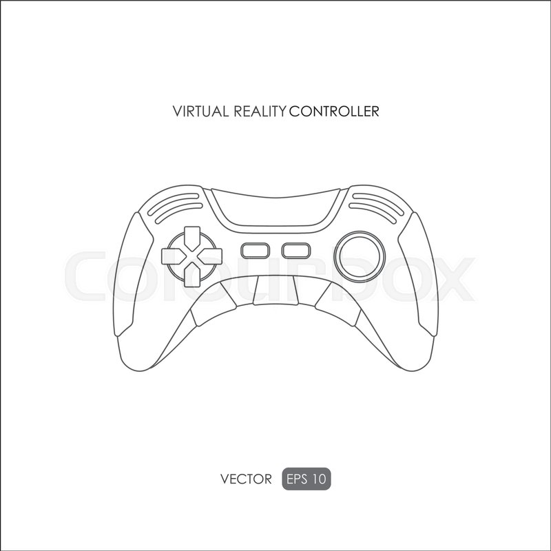 800x800 Hand Controller For Virtual Reality System. Outline Drawing