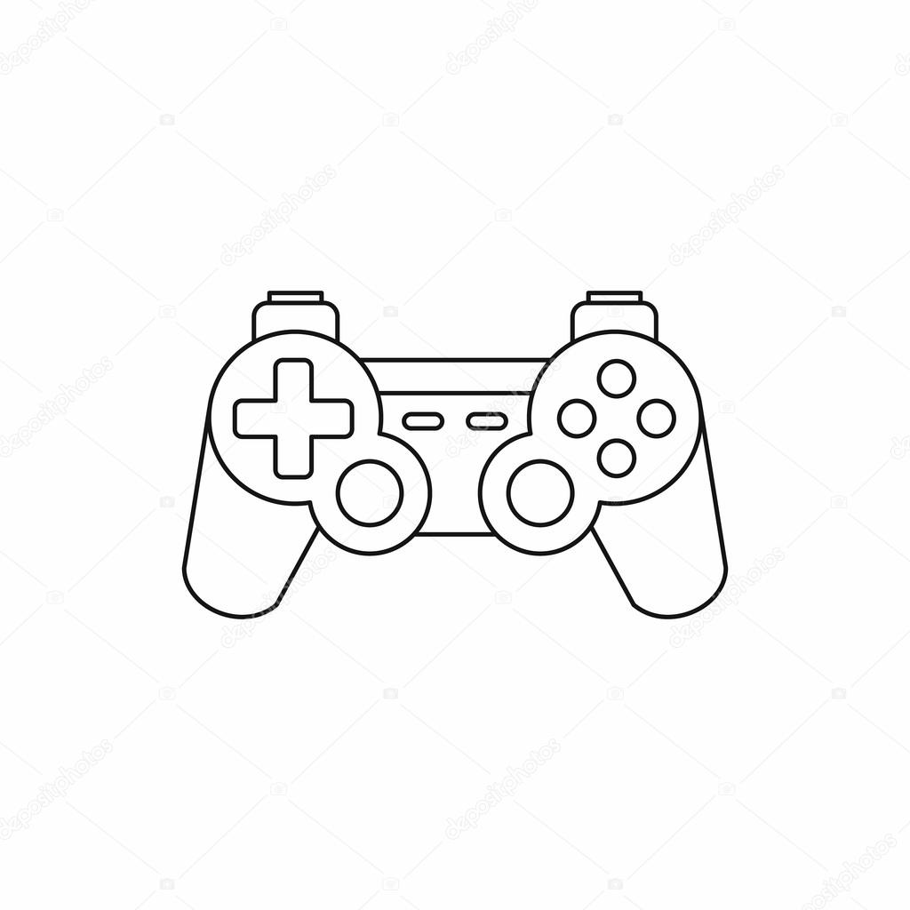 1024x1024 Joystick For Gaming Console Icon, Outline Style Stock Vector