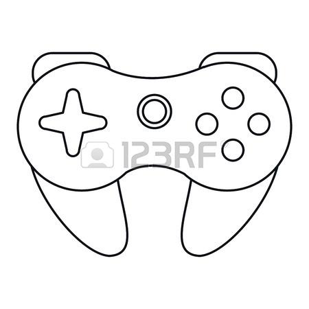 450x450 Cartoon Game Pad Control Console Concept Vector Illustration