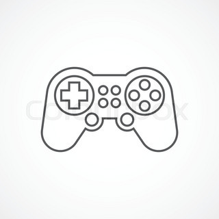 320x320 Video Games Icon Doodle, Hand Drawing Style Stock Vector Colourbox