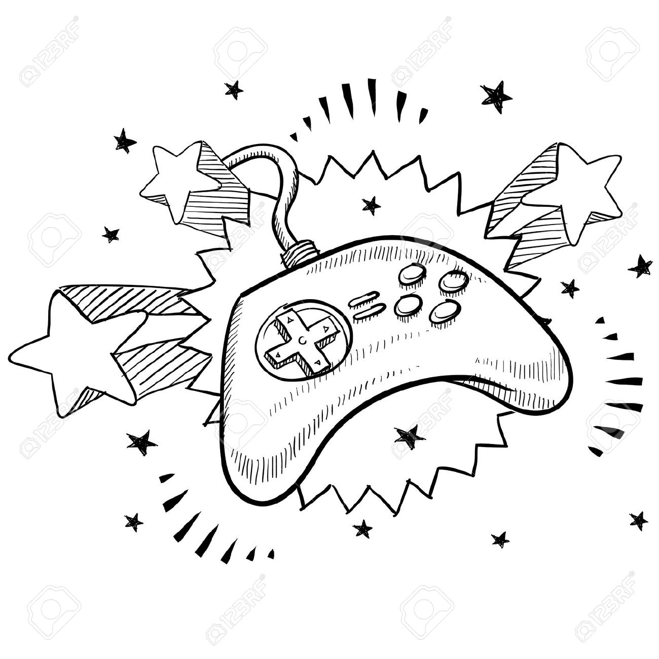 1300x1300 Doodle Drawing Games Drawn Controller Video Game Controller