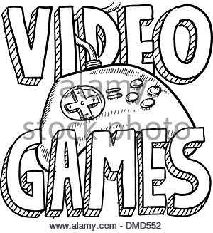 300x327 Game Console Kids Computer Drawing Illustration Pictogram Stock