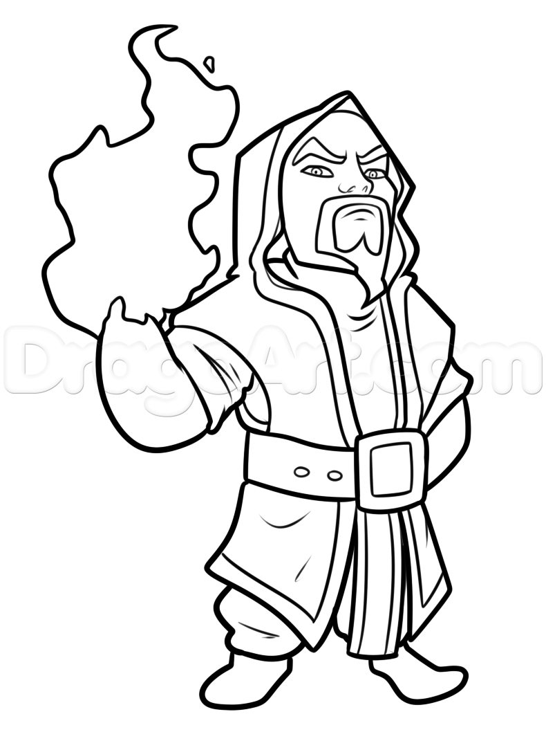 790x1071 Clash Of Clans Drawings How To Draw Wizard From Clash Of Clans