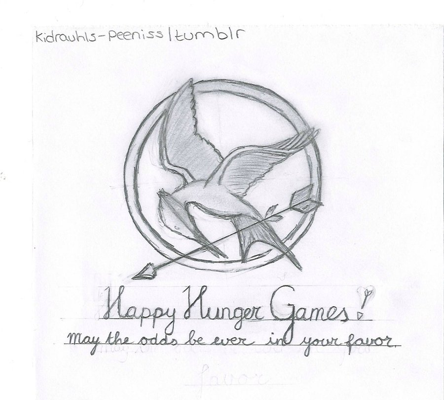 900x810 Drawings Of The Hunger Games Book Fronts (1) By Meganodair