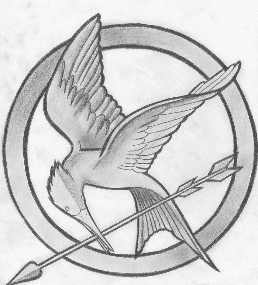 849x937 The Hunger Games Symbol By Findmeinthevalley