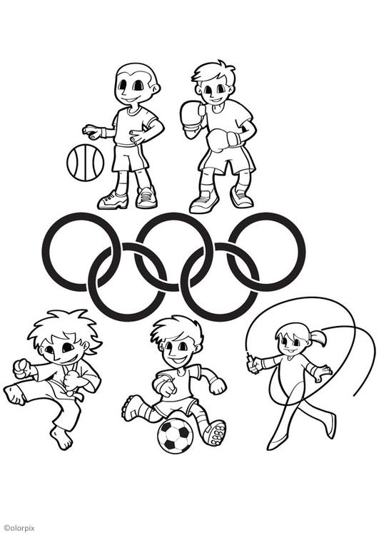 531x750 Coloring Page Olympic Games