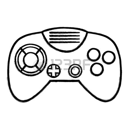 Gaming Controller Drawing At Getdrawings Com