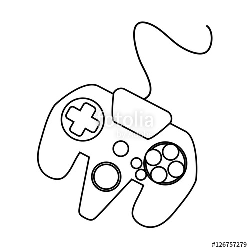 500x500 Videogame Control Silhouette Icon. Game Play Leisure Gaming