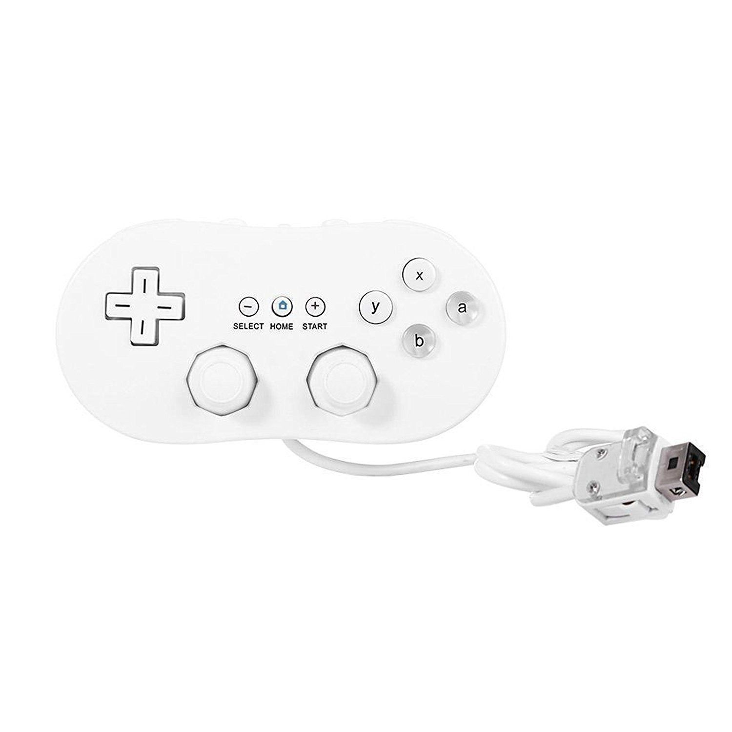 1500x1500 White Wired Classic Joystick Controller Pro Game Joypad