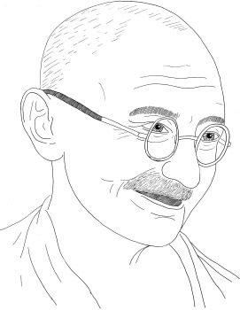 Gandhi Drawing