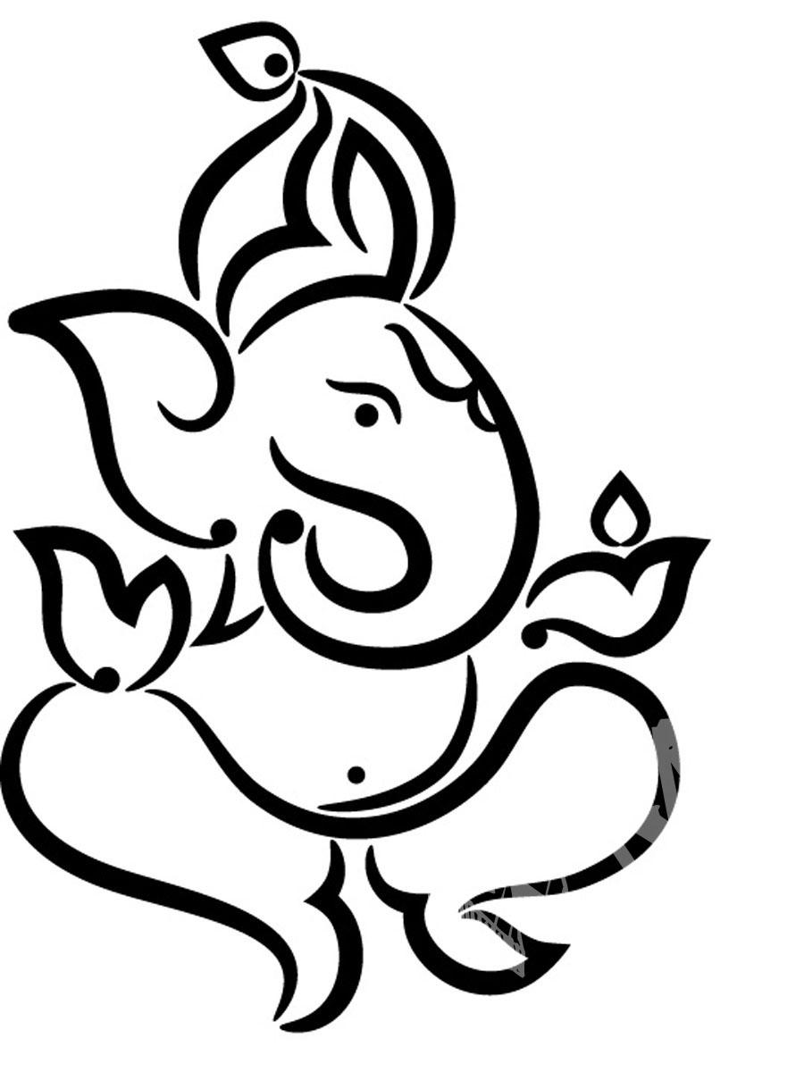 900x1200 Ganesh Ji Sketch Collection