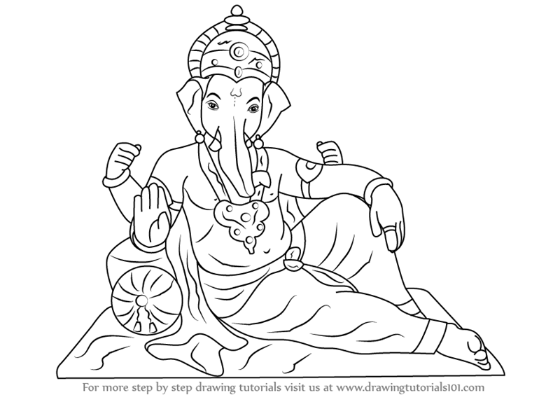 800x564 Learn How To Draw Ganesh Ji (Hinduism) Step By Step Drawing