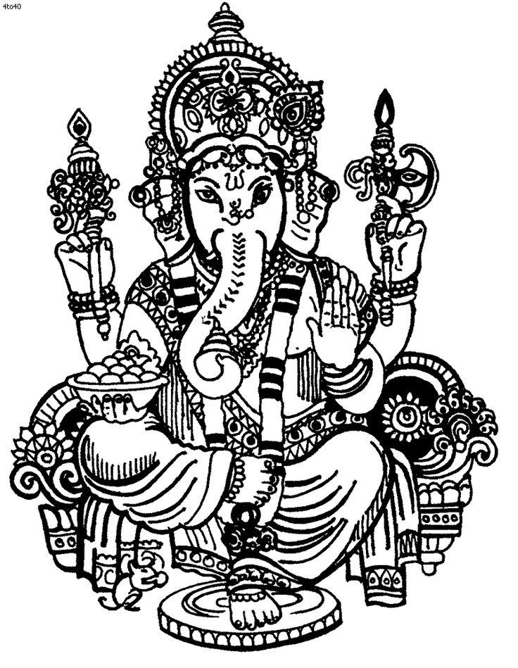 736x949 Znalezione Obrazy Dla Zapytania Ganesha Drawing Ganesz