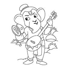 Ganesh Drawing For Kids