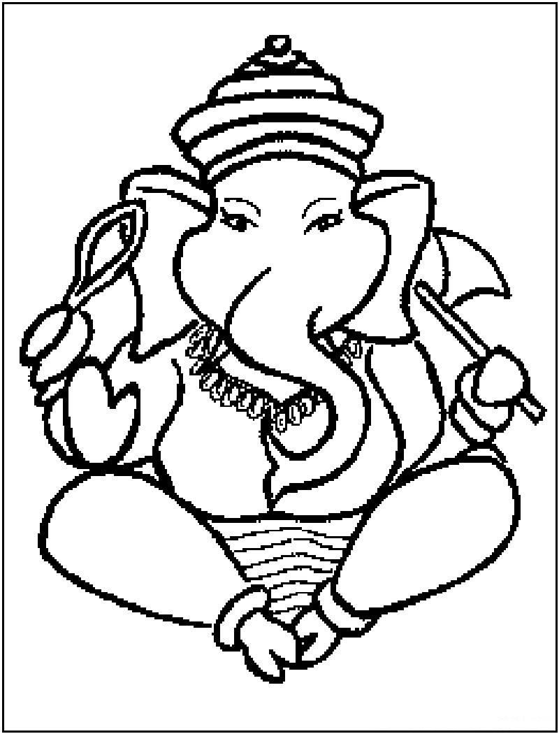 Ganesh Drawing For Kids at GetDrawings   Free download