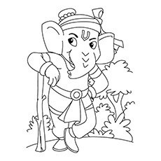 Ganesh Drawing Outline