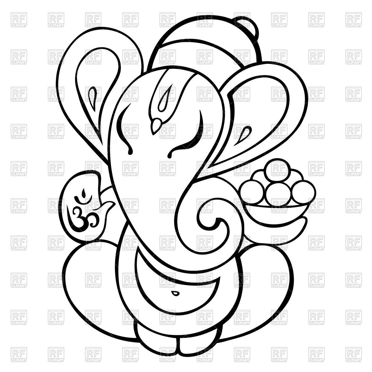 Line Art Vinayagar : Ganesh drawing outline at getdrawings free for