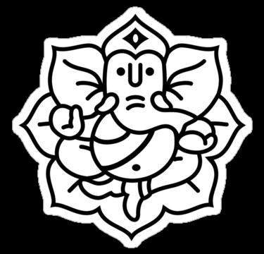 375x360 Ganesha Outline Ganesha Ganesha, Outlines And Ganesh