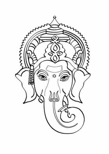 374x531 ganpati coloring pages