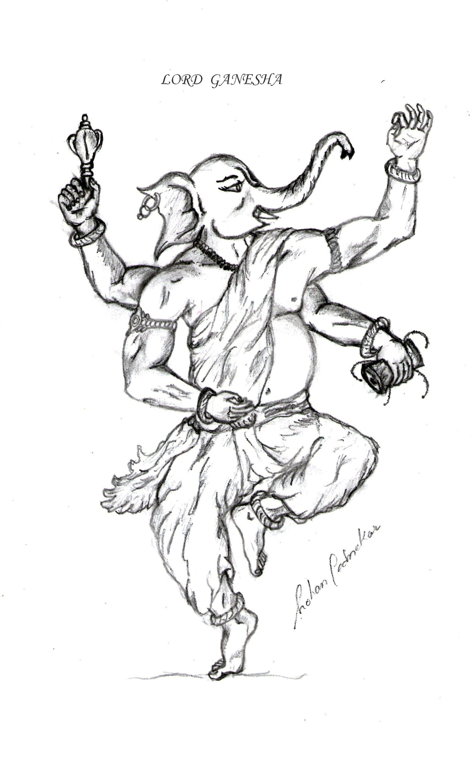 Ganesh Drawing Simple at GetDrawings